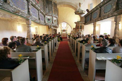 Gottesdienst in der Dorfkirche Burkartshain