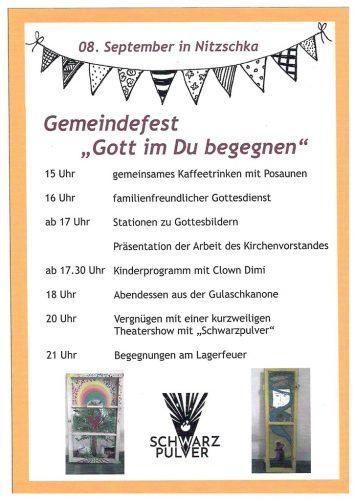 Gemeindefest in Nitzschka am 8. Dezember 2018